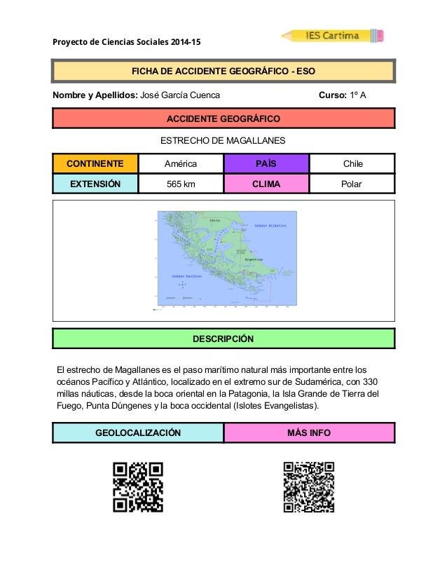 Proyecto de Ciencias Sociales 2014-15  FICHADEACCIDENTEGEOGRÁFICOESO  NombreyApellidos:JoséGarcíaCuen...