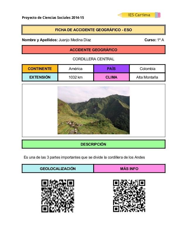 Proyecto de Ciencias Sociales 2014-15  FICHADEACCIDENTEGEOGRÁFICOESO  NombreyApellidos:JuanjoMedinaDí...