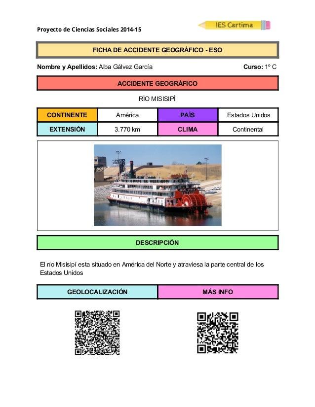 Proyecto de Ciencias Sociales 2014-15  FICHADEACCIDENTEGEOGRÁFICOESO  NombreyApellidos:AlbaGálvezGarc...