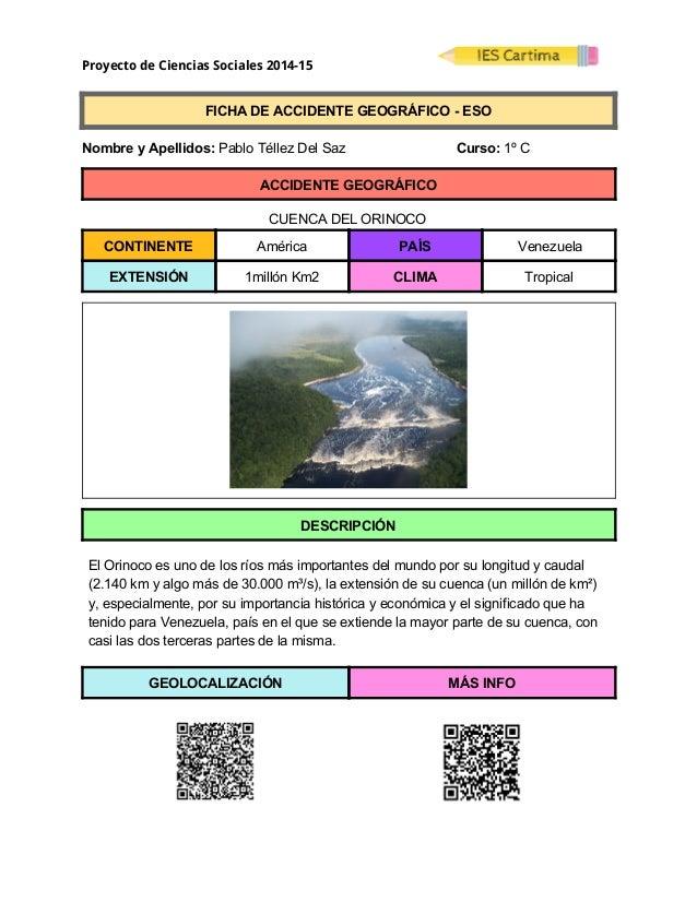 Proyecto de Ciencias Sociales 2014-15  FICHADEACCIDENTEGEOGRÁFICOESO  NombreyApellidos:PabloTéllezDel...