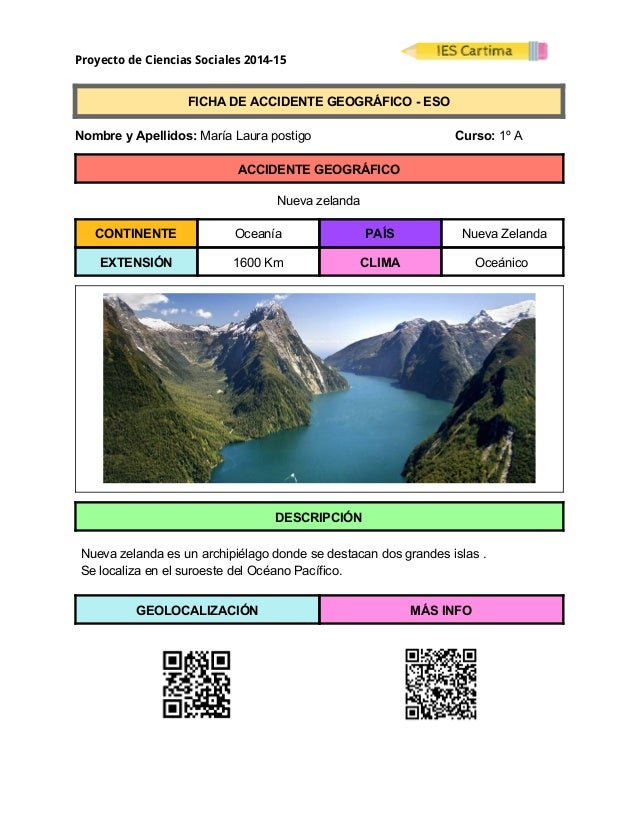 Proyecto de Ciencias Sociales 2014-15  FICHADEACCIDENTEGEOGRÁFICOESO  NombreyApellidos:MaríaLaurapost...