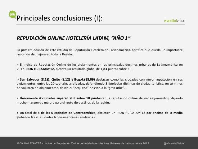 Principales conclusiones (II):DOBLE DESAFÍO PARA TODO EL SECTORConseguir Más Volumen de Opiniones de clientes en Internet ...