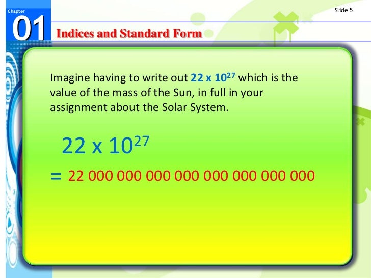 Indices And Standard Form