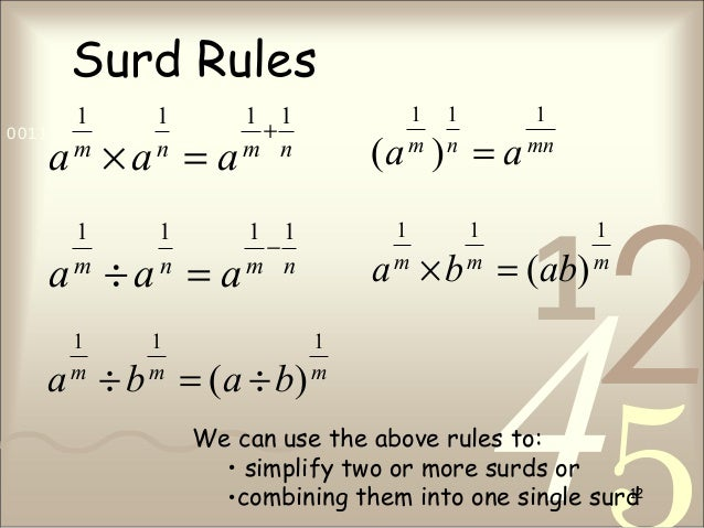 how to write as a whole surd