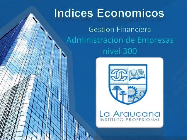 • Un indicador económico (o indicador de negocios) es una estadística sobre la economía. Los indicadores económicos permit...