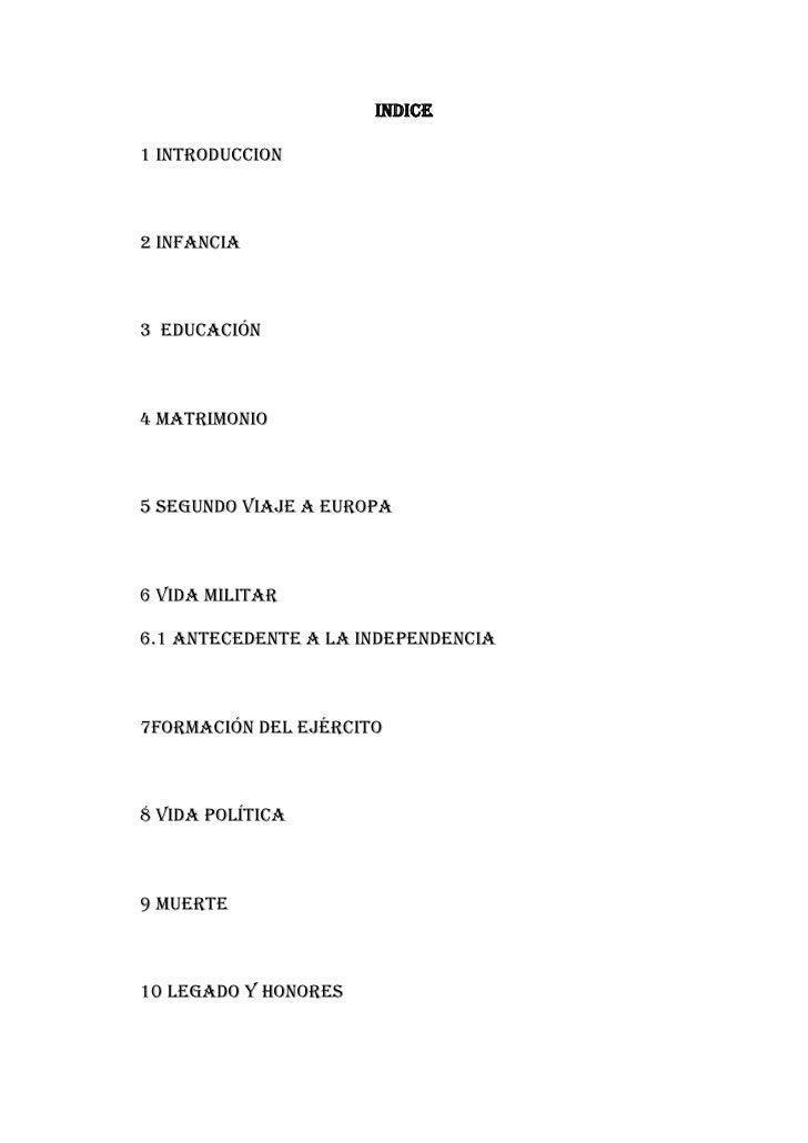 INDICE<br />1 INTRODUCCION<br />2 INFANCIA<br />3  EDUCACIÓN<br />4 MATRIMONIO<br />5 SEGUNDO VIAJE A EUROPA<br />6 VIDA M...