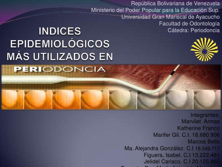 República Bolivariana de Venezuela<br />Ministerio del Poder Popular para la Educación Sup.<br />Universidad Gran Mariscal...