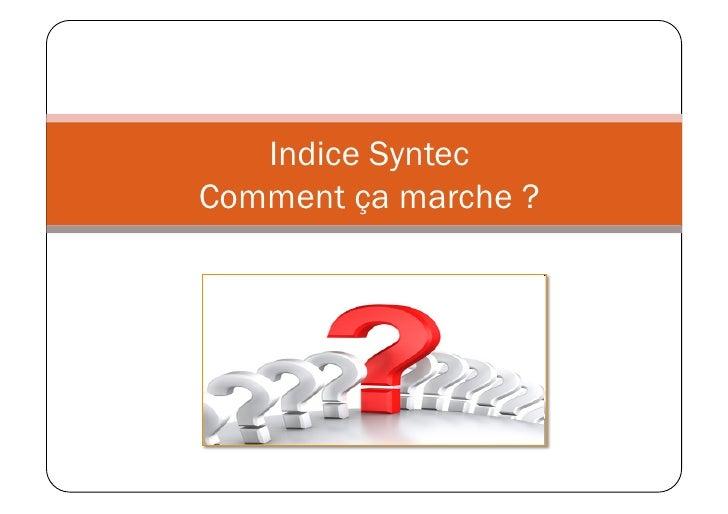 Indice Syntec Comment ça marche ?
