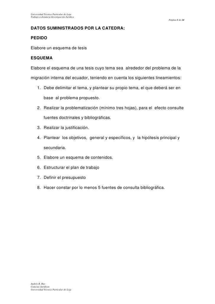 DATOS SUMINISTRADOS POR LA CATEDRA:<br />PEDIDO<br />Elabore un esquema de tesis<br />ESQUEMA<br />Elabore el esquema de u...