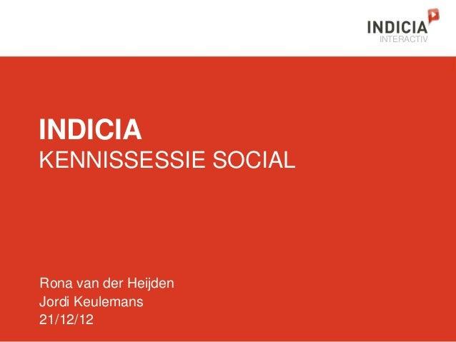 INTERACTIVINDICIAKENNISSESSIE SOCIALRona van der HeijdenJordi Keulemans21/12/12
