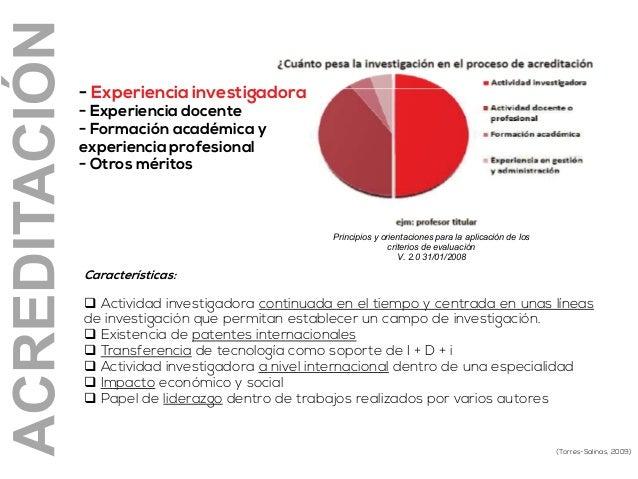 - Experiencia investigadora  - Experiencia docente  - Formación académica y  experiencia profesional  - Otros méritos  Pri...