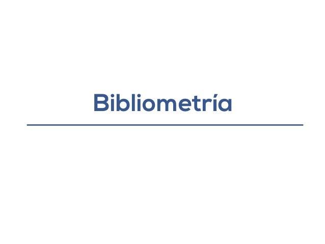 Bibliometría