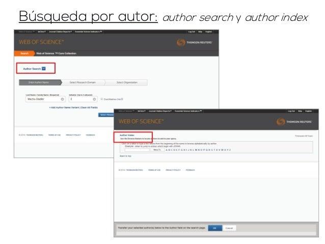 Búsqueda por autor: cited reference search