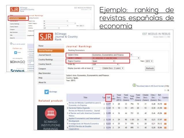 Rankings de revistas por idiomas y  por áreas, ordenados por h-index