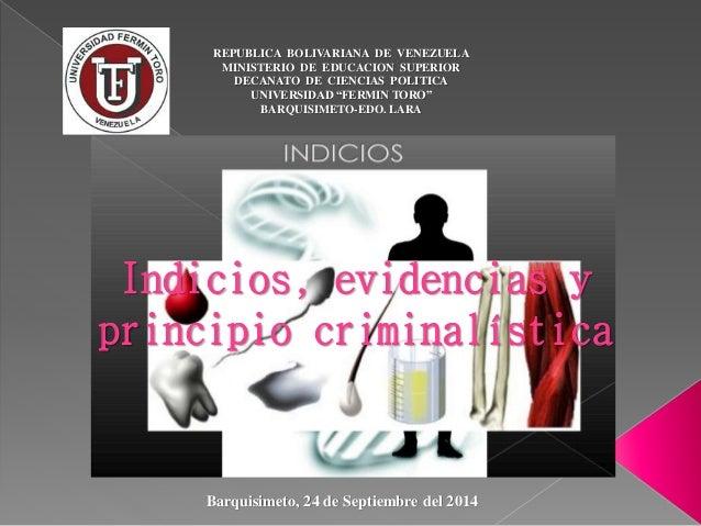 """REPUBLICA BOLIVARIANA DE VENEZUELA  MINISTERIO DE EDUCACION SUPERIOR  DECANATO DE CIENCIAS POLITICA  UNIVERSIDAD """"FERMIN T..."""