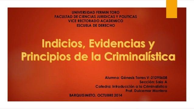 UNIVERSIDAD FERMIN TORO  FACULTAD DE CIENCIAS JURIDICAS Y POLITICAS  VICE RECTORADO ACADEMICO  ESCUELA DE DERECHO  Alumno:...