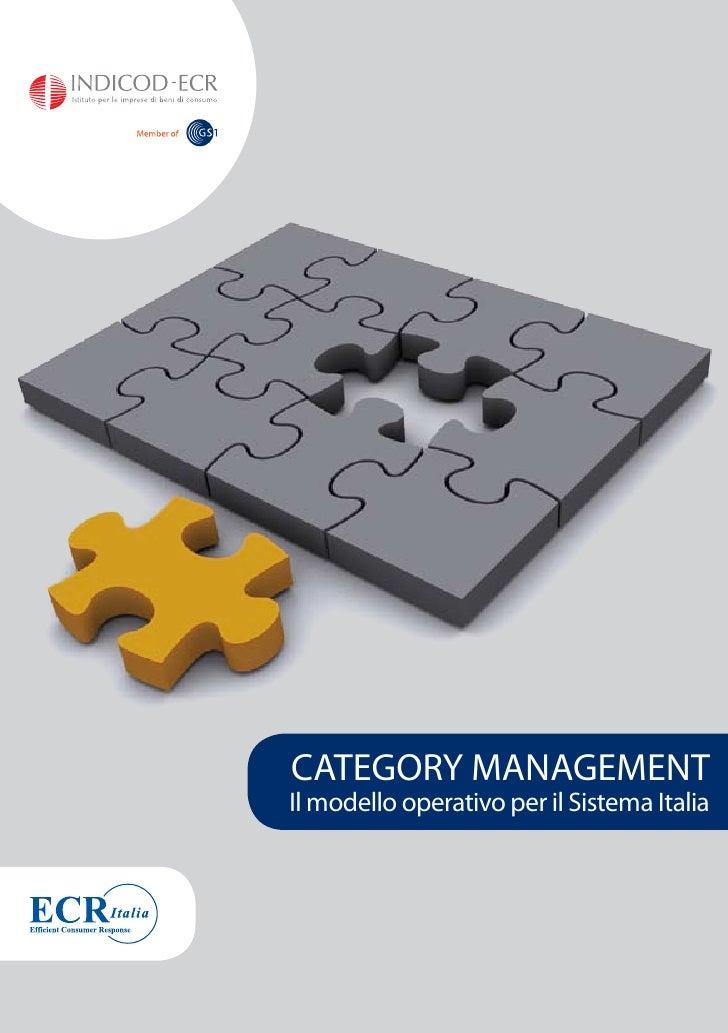 CATEGORY MANAGEMENT Il modello operativo per il Sistema Italia