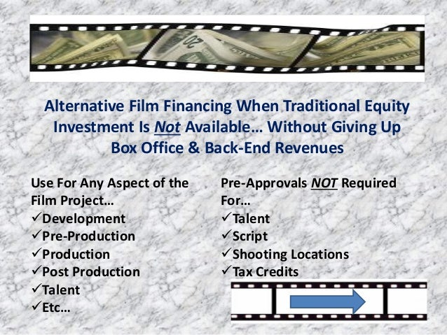 Alternative Film Financing When Traditional Equity Investment Is Not Available… Without Giving Up Box Office & Back-End Re...
