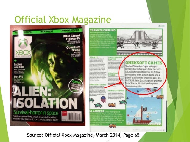Official Xbox Magazine  `  Source: Official Xbox Magazine, March 2014, Page 65