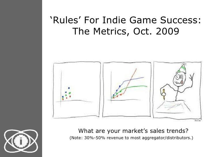 ' Rules' For Indie Game Success: The Metrics, Oct. 2009 <ul><li>What are your market's sales trends?   (Note: 30%-50% reve...