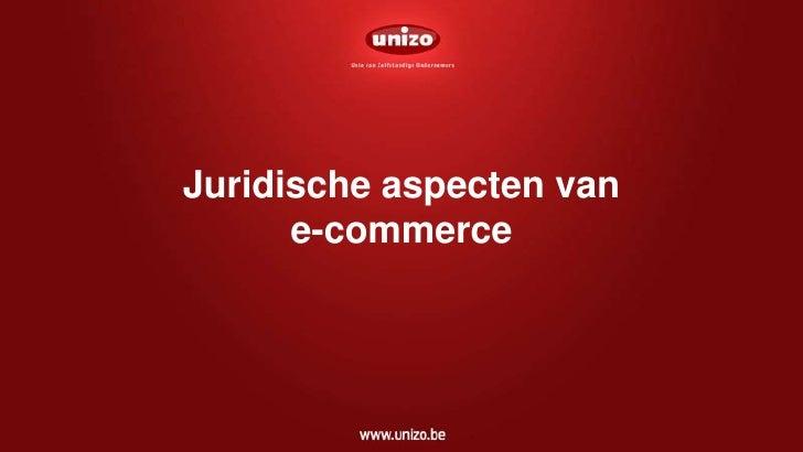Juridische aspecten van e-commerce<br />