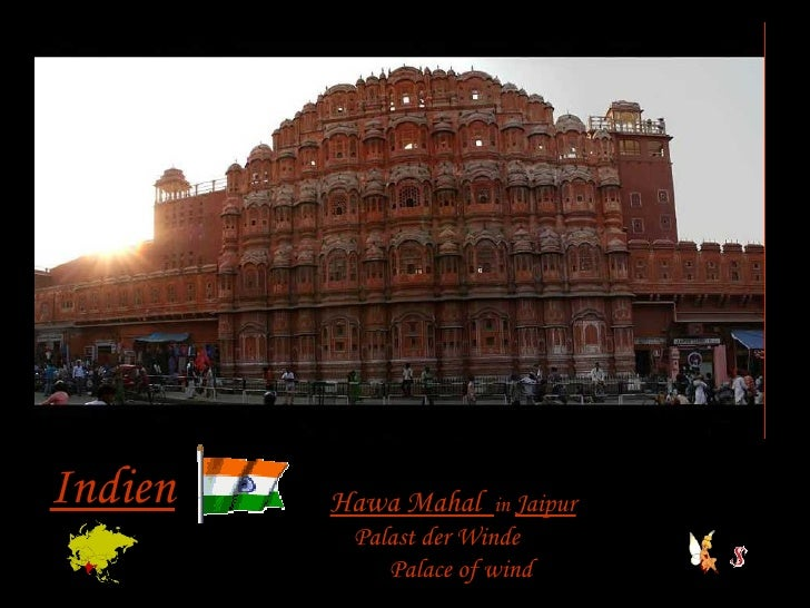 Indien Hawa Mahal  in  Jaipur Palast der Winde Palace of wind