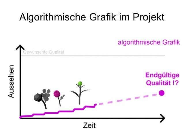 Algorithmische Grafik im Projekt Tipps für den Ausführenden: ● Concept Art ● Stil imitieren ● Ungenauigkeiten reinbringen ...