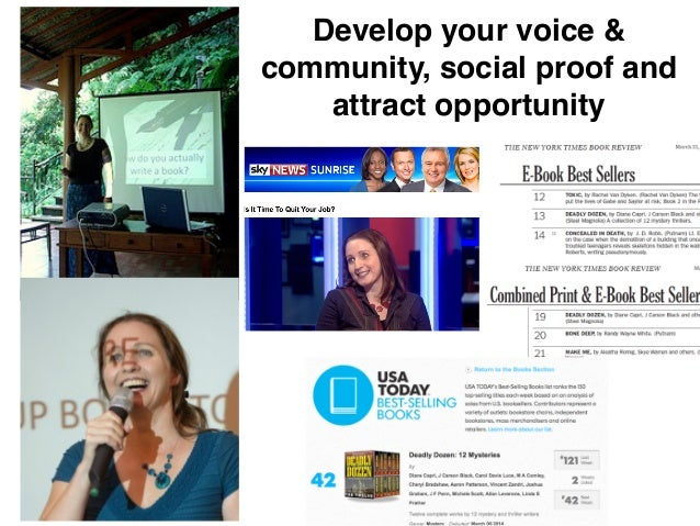 24 Develop your voice & community, social proof and attract opportunity