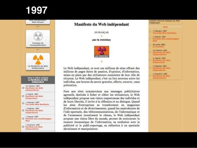 Manifeste du Web Indépendant 1997