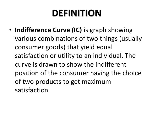 meaning of indifference curve