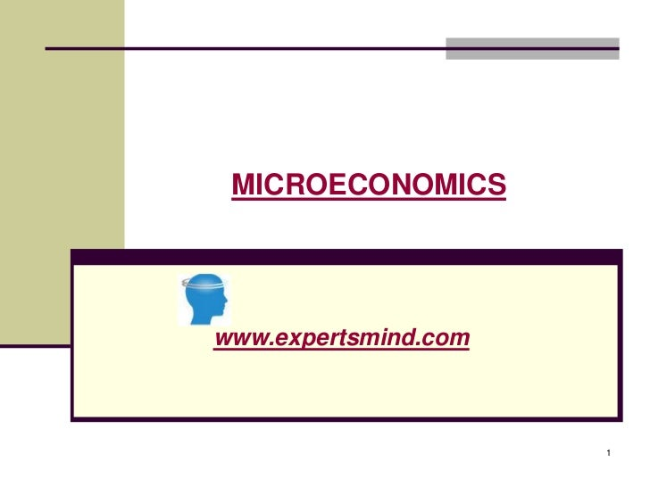 MICROECONOMICSwww.expertsmind.com                      1
