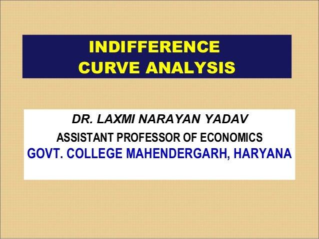 INDIFFERENCE CURVE ANALYSIS DR. LAXMI NARAYAN YADAV ASSISTANT PROFESSOR OF ECONOMICS GOVT. P.G. COLLEGE MAHENDERGARH, HARY...