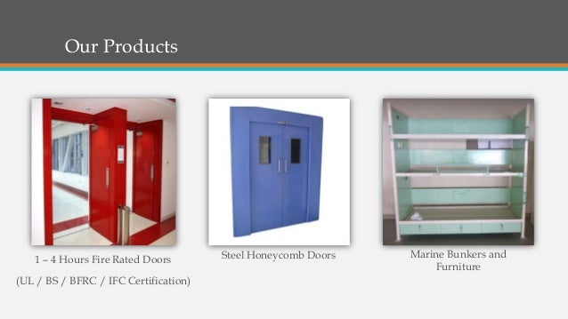 Our Products 1 – 4 Hours Fire Rated Doors (UL / BS / BFRC / IFC Certification) Steel Honeycomb Doors Marine Bunkers and Fu...