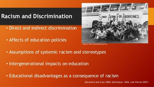 indigenous disadvantage issues Citation rudolph, s (2011) rethinking indigenous educational disadvantage: a critical analysis of race and whiteness in australian education policy.