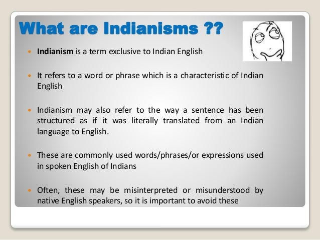 Indianisms