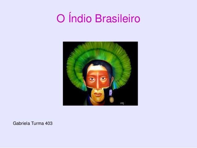 O Índio Brasileiro Gabriela Turma 403