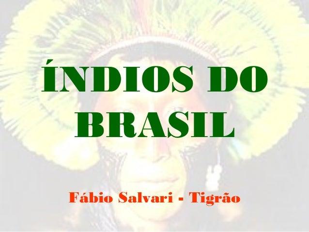 ÍNDIOS DO BRASIL Fábio Salvari - Tigrão