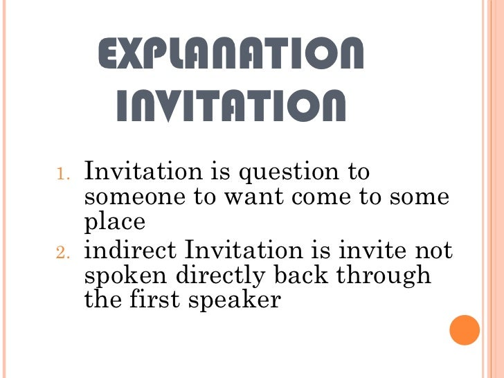 Indirect instruction com mand request and invitation explanation invitation stopboris Images
