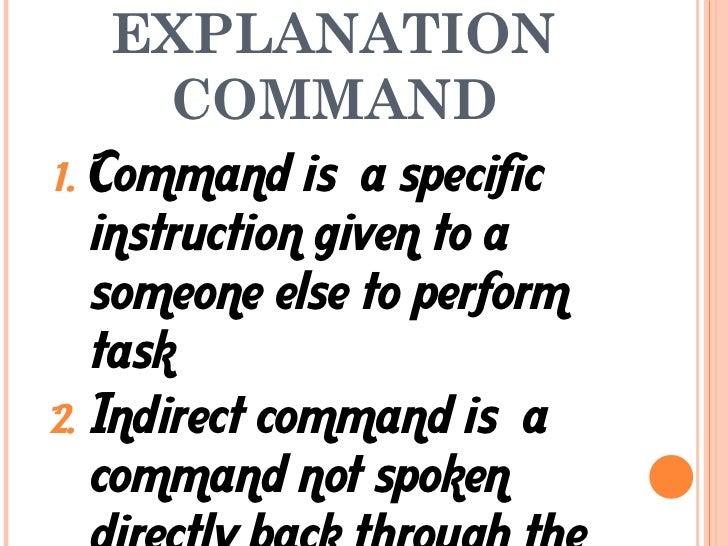 Indirect instruction com mand request and invitation explanation stopboris Images