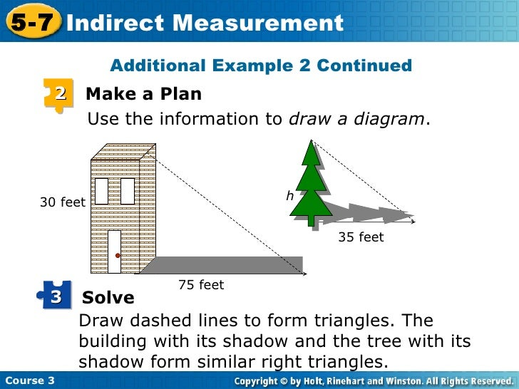 Indirect measurement – Indirect Measurement Worksheet