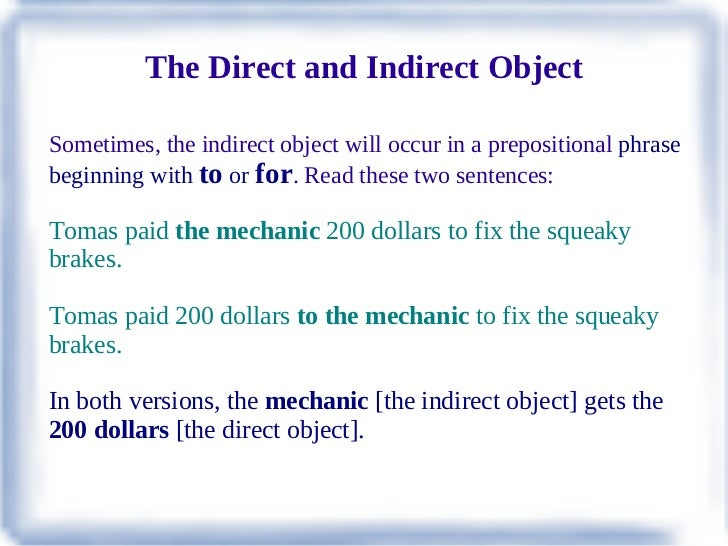 Indirect Object