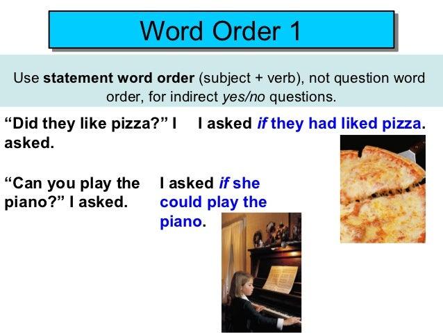statement word order