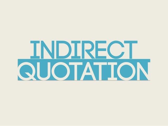 INDIRECTQUOTATION