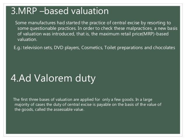 On Ad Valorem Meaning