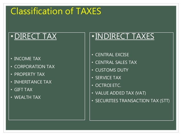 Indirect taxes an introduction. Introduction tax is the amount.