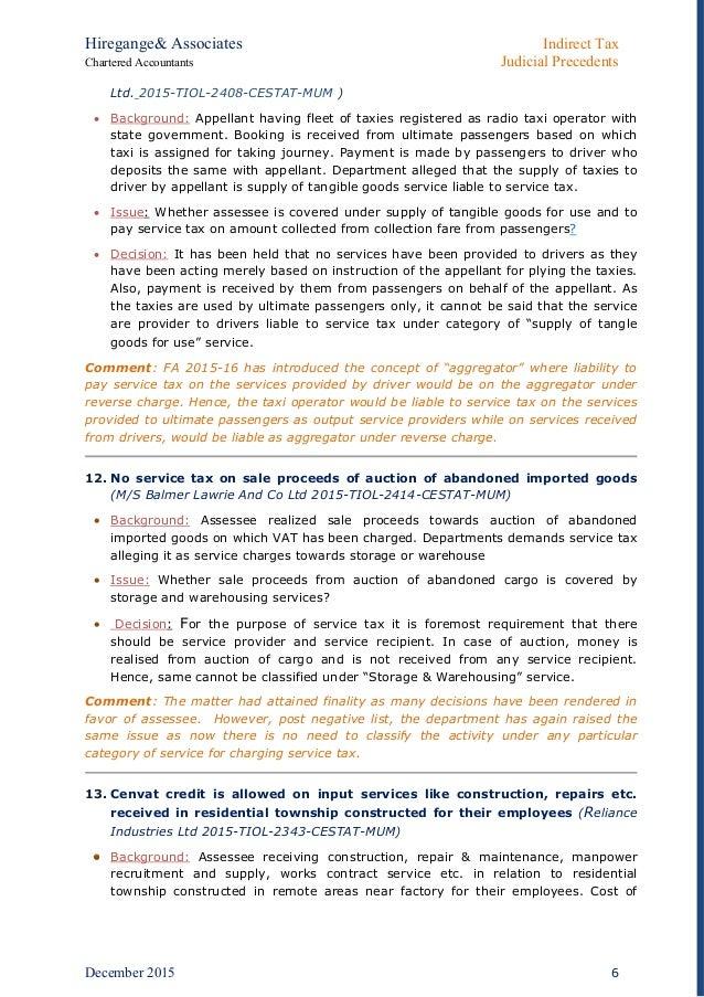 indirect taxation resume