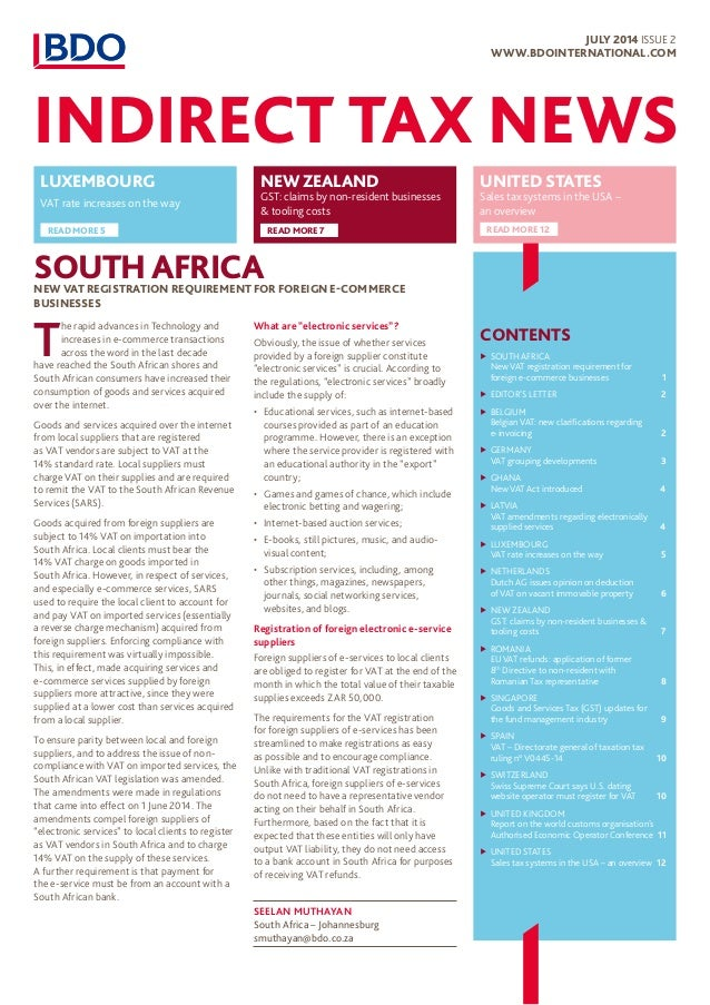 south african revenue service new requirements