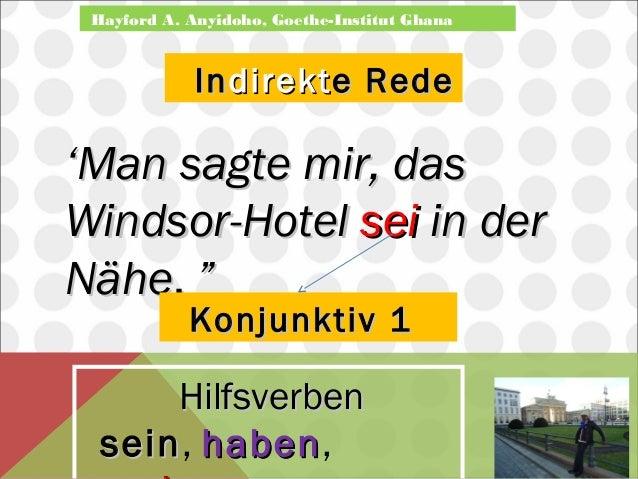 Hayford A. Anyidoho, Goethe-Institut Ghana  IInnddiirreekkttee RReeddee  ''MMaann ssaaggttee mmiirr,, ddaass  WWiinnddssoo...