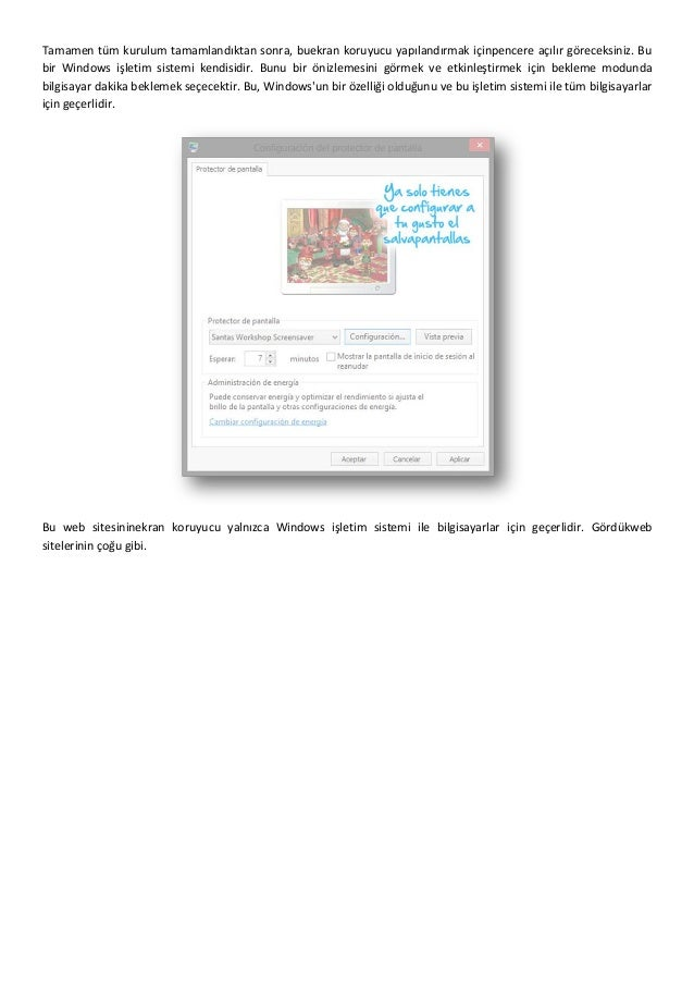 Indirmek ve ekran kurulum kılavuzu - Ekran koruyucular Slide 3