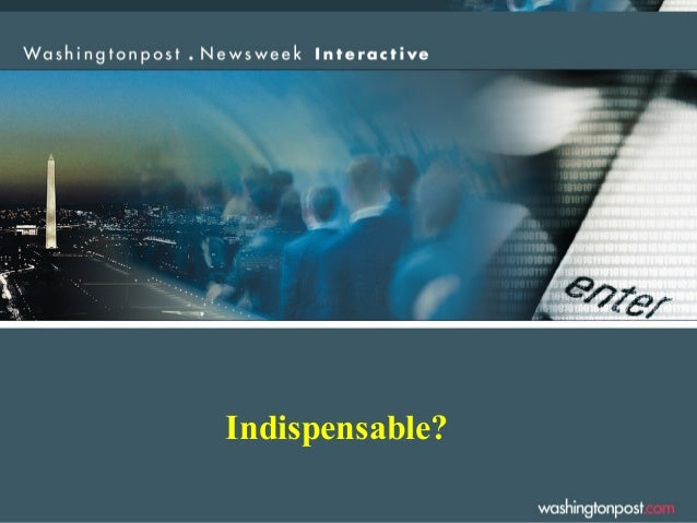 Indispensable?